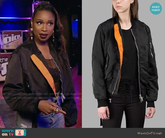 Ben Taverniti Bomber Jacket worn by Jennifer Hudson on The Voice