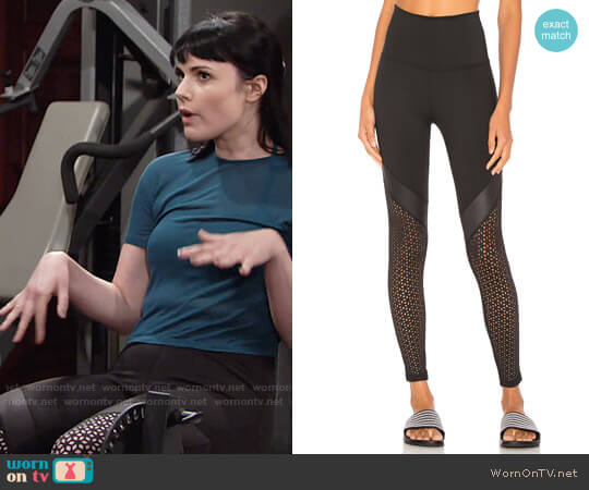 Beyond Yoga Perfect Angles Leggings worn by Cait Fairbanks on The Young & the Restless