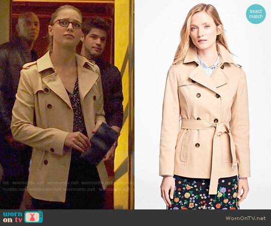 Brooks Brothers Water-Repellent Cotton-Twill Trench Coat worn by Melissa Benoist on Supergirl