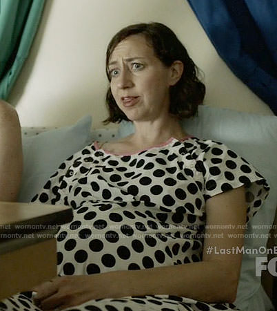 Carol's polka dot delivery gown on Last Man on Earth