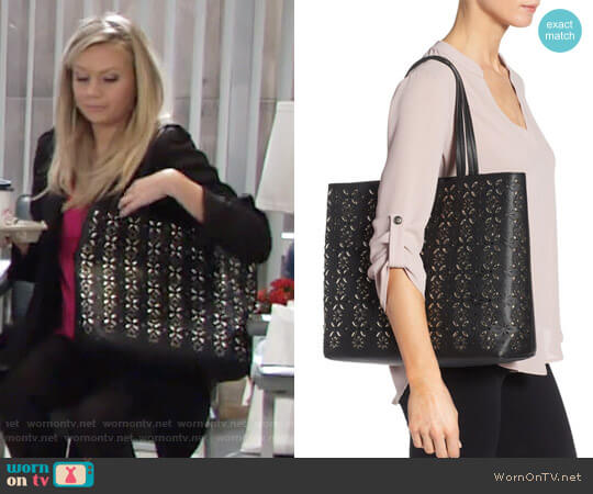 Chelsea28 Kaylee Embellished Faux Leather Tote worn by Abby Newman (Melissa Ordway) on The Young & the Restless
