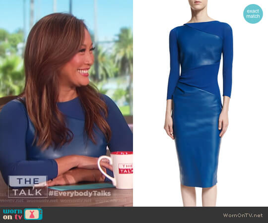 Malila Long-Sleeve Paneled Dress by Chiara Boni La Petite Robe worn by Carrie Inaba  on The Talk