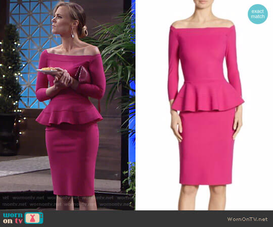La Petite Robe di Chiara Boni Sina Dress worn by Gina Tognoni on The Young & the Restless
