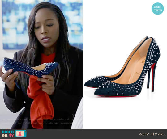 Christian Louboutin Escarpic Pumps worn by Michaela Pratt (Aja Naomi King) on HTGAWM