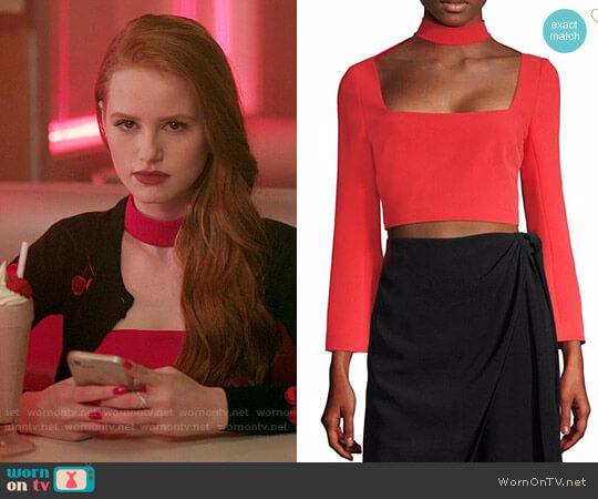 Cinq a Sept Amara Top worn by Madelaine Petsch on Riverdale