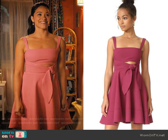 Cinq a Sept Nyma Dress worn by Gina Rodriguez on Jane the Virgin