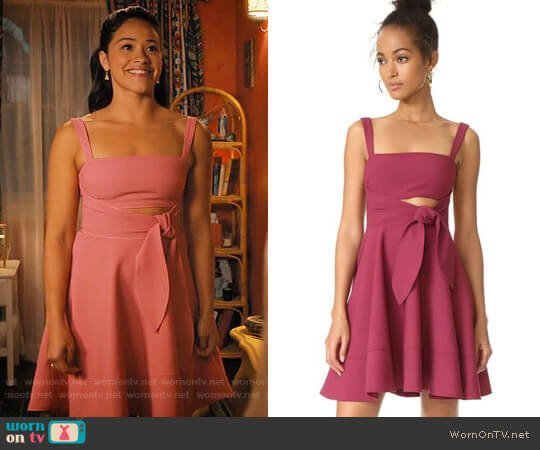 Cinq a Sept Nyma Dress worn by Jane Villanueva (Gina Rodriguez) on Jane the Virgin