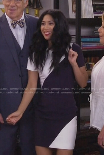 Eve's colorblock mini dress on 9JKL