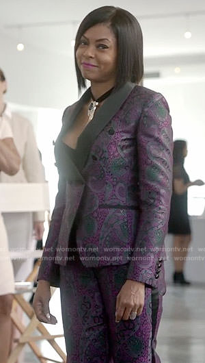 Cookie's purple jacquard suit on Empire