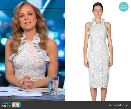 Sky Beauty High Neck Dress by Cooper St worn by Carrie Bickmore on The Project