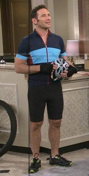 Josh's blue and red cycling jersey on 9JKL
