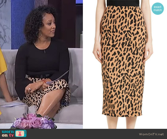 Tailored Midi Pencil Skirt by Diane von Furstenberg worn by Tamera Mowry  on The Real