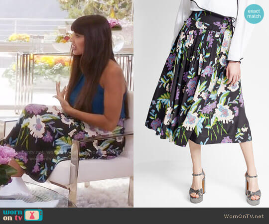 Diane von Furstenberg Floral Silk Skirt worn by Tahani Al-Jamil (Jameela Jamil) on The Good Place
