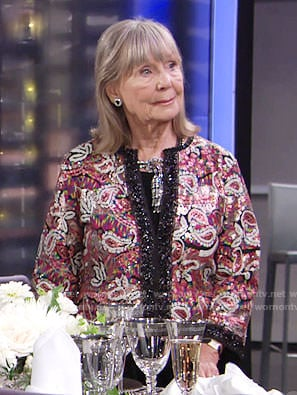 Dina's paisley sequin jacket on The Young and the Restless