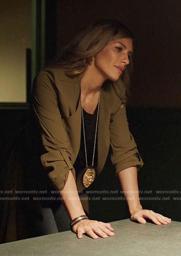 Dinah's green draped jacket on Arrow