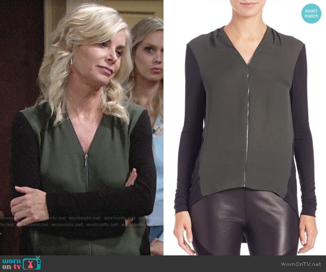 Elie Tahari Malia Top worn by Ashley Abbott (Eileen Davidson) on The Young & the Restless