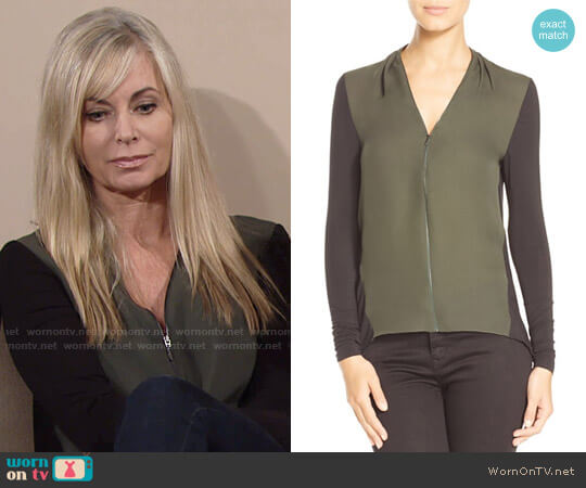 Elie Tahari Malia Top worn by Eileen Davidson on The Young & the Restless