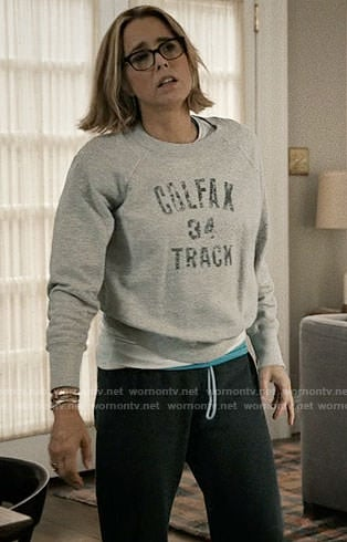 Elizabeth's Colfax Track sweatshirt on Madam Secretary