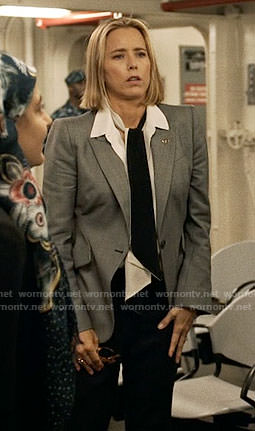 Elizabeth's grey blazer on Madam Secretary