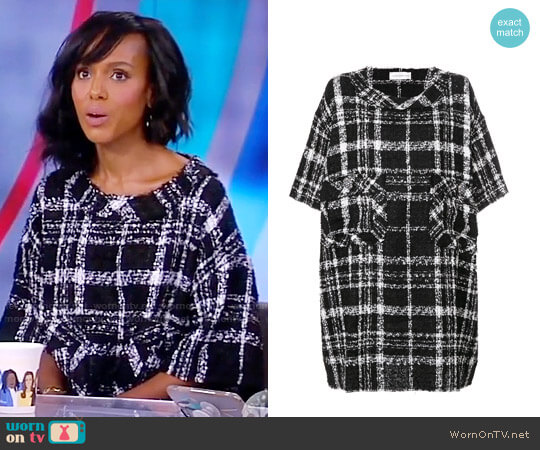 Faith Connexion Checked Shift Dress worn by Kerry Washington on The View