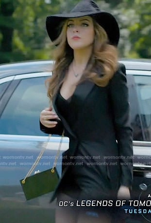 Fallon's black romper on Dynasty