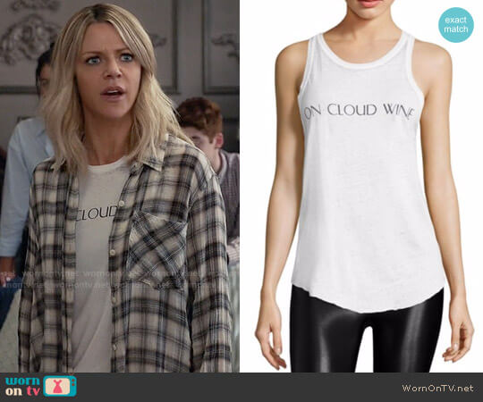 Feel the Piece On Cloud Wine Tank Top worn by Kaitlin Olson on The Mick
