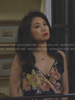 Eve's floral print cami dress on 9JKL