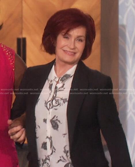 Sharon's print long sleeve top on The Talk
