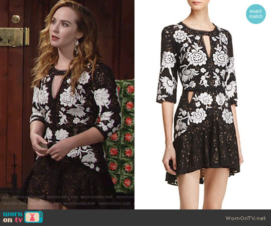 For Love & Lemons Mallorca Dress worn by Camryn Grimes on The Young & the Restless