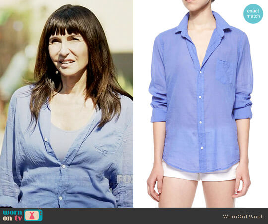 Frank & Eileen Barry Voile Shirt worn by Gail Klostermann (Mary Steenburgen) on Last Man On Earth