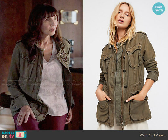 Free People Not Your Brother's Surplus Jacket worn by Gail Klostermann (Mary Steenburgen) on Last Man On Earth