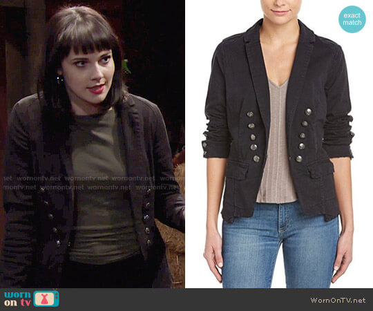 Free People Structured Washed Blazer worn by Cait Fairbanks on The Young & the Restless