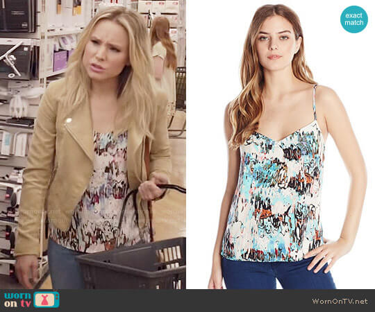 French Connection Isla Ripple Top worn by Eleanor Shellstrop (Kristen Bell) on The Good Place