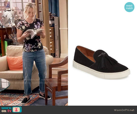 Frye Gemma Tassel Slip-On Sneakers worn by Kaley Cuoco on The Big Bang Theory