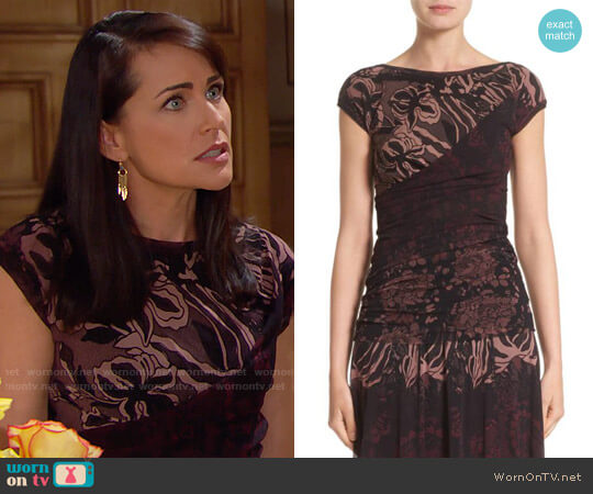 Fuzzi Ruched Tulle Top worn by Quinn Fuller (Rena Sofer) on The Bold & the Beautiful