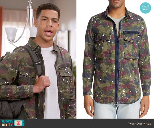 G Star Raw Type C Zip-Front Shirt Jacket worn by Andre Johnson Jr (Marcus Scribner) on Blackish