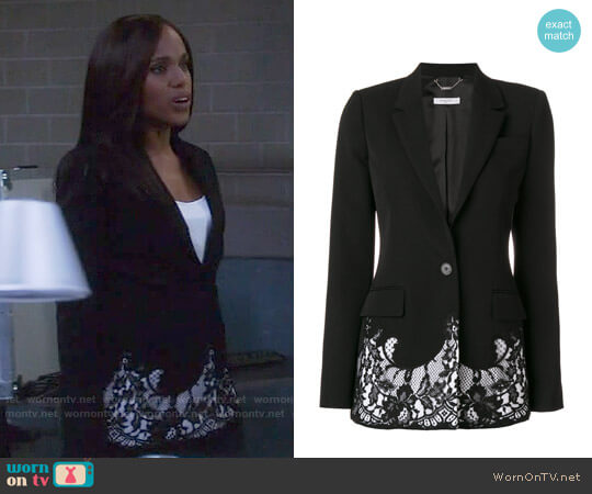 Givenchy Lace Embroidered Blazer worn by Kerry Washington on Scandal