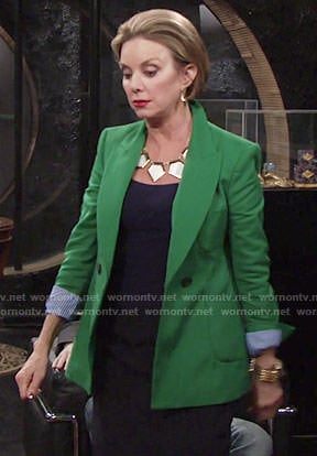 Gloria's green blazer on The Young and the Restless