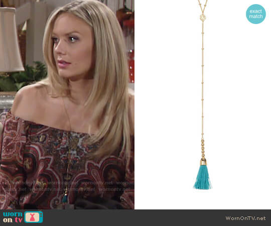 Gorjana Baja Necklace worn by Abby Newman (Melissa Ordway) on The Young & the Restless