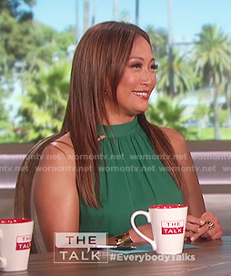 Carrie Inaba's green halter neck top on The Talk