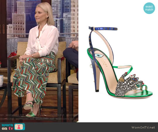 'Wangy' Sandals by Gucci worn by Kelly Ripa on Live with Kelly & Ryan