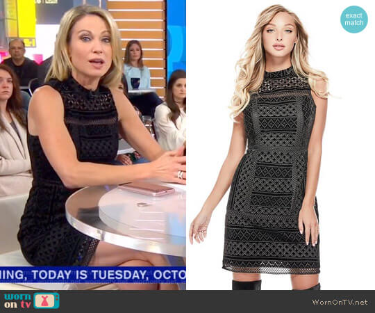 'Olivia' Textured Dress by Guess worn by Amy Robach  on Good Morning America