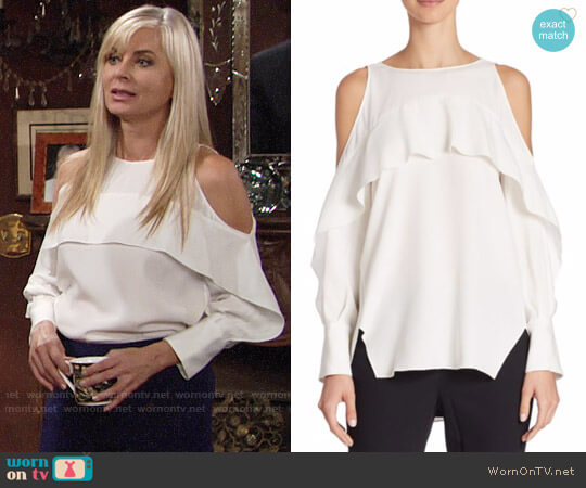 Halston Heritage Cold Shoulder Tunic worn by Ashley Abbott (Eileen Davidson) on The Young & the Restless