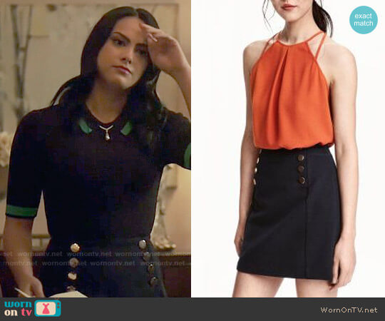 H&M Short Skirt worn by Camila Mendes on Riverdale