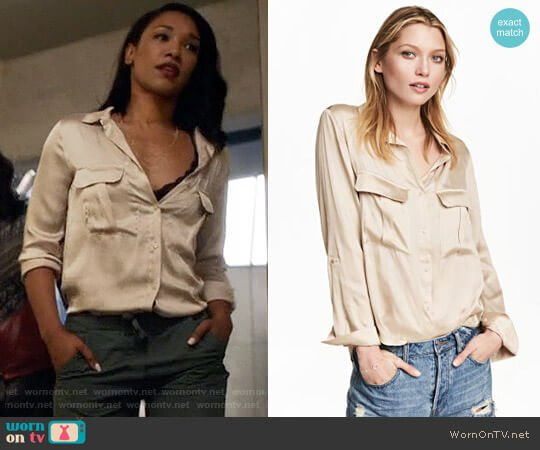 H&M Utility Shirt worn by Iris West (Candice Patton) on The Flash