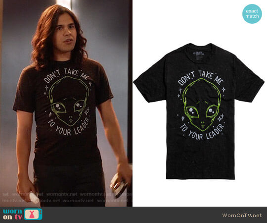 Hot Topic Alien Don't Take Me T-Shirt worn by Carlos Valdes on The Flash