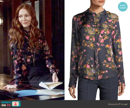 Isabel Marant Rusak Blouse worn by Abby Whelan (Darby Stanchfield) on Scandal