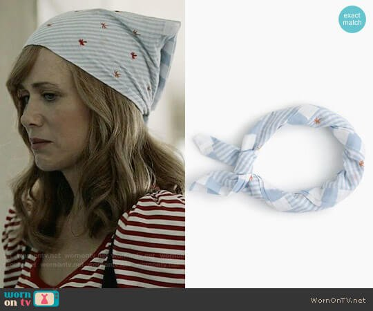 J. Crew Striped Bandana with Palm Trees worn by Kristen Wiig on Last Man On Earth