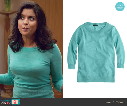 J. Crew Tippi Sweater worn by Vicky (Tiya Sircar) on The Good Place