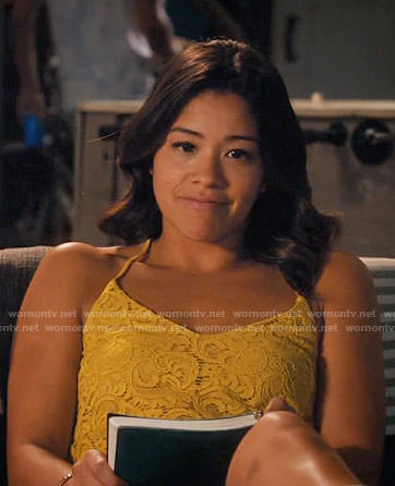 Jane's yellow lace cami on Jane the Virgin